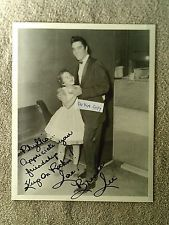 RARE - Elvis Presley and Brenda Lee - AUTHENTIC AUTOGRAPHED BY  BRENDA LEE 1957