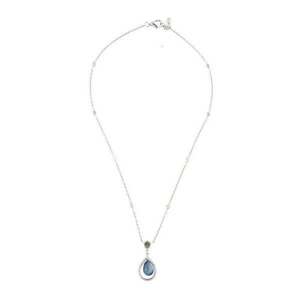 Pre-owned 18k White Gold Diamond and Multi-Colored Sapphire Necklace ($2,850) ❤ liked on Polyvore featuring jewelry, necklaces, sapphire diamond necklace, sapphire necklace, white gold chain necklace, white gold necklace and white gold diamond necklace