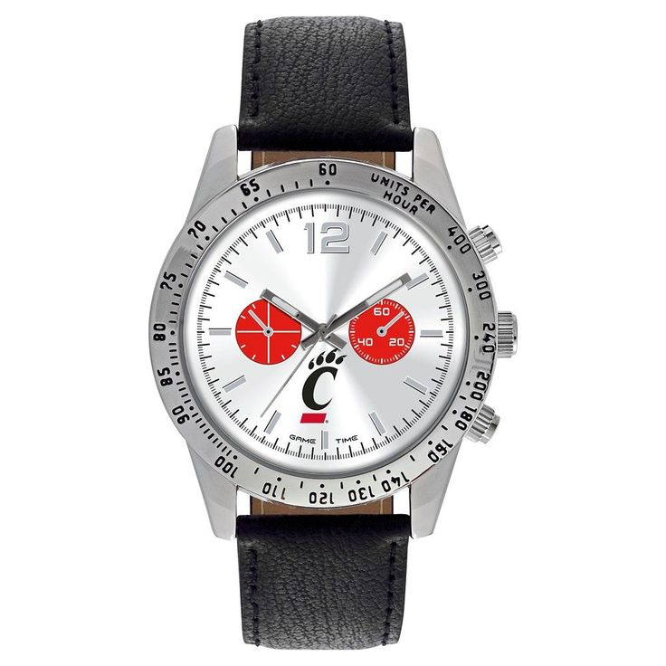 Men's Game Time NCAA Letterman Sports Watch - Black - Cincinnati Bearcats