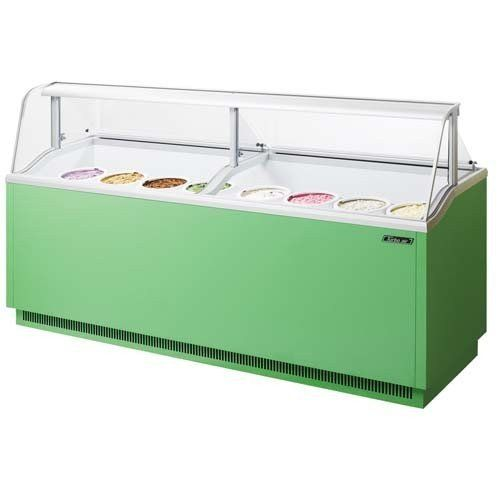 """#freezers Ice #Cream Dipping Cabinet, 89""""w, (16) 3 Gallon Can Capacity, (12) Storage, (4) Abs Night Cover Standard, (16) Pe Coated Container #Racks With Easy Grip..."""