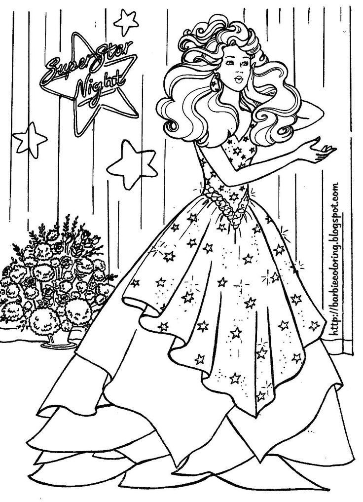 Best 25 Barbie coloring pages