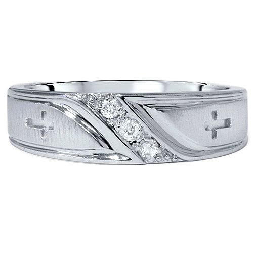 Mens Diamond Cross Wedding Ring Band 10K White Gold Size 7 12 High Polished  Mans Anniversary Band White GoldBest 25  Mens diamond wedding bands ideas on Pinterest   Men  . Mens Cross Wedding Band. Home Design Ideas