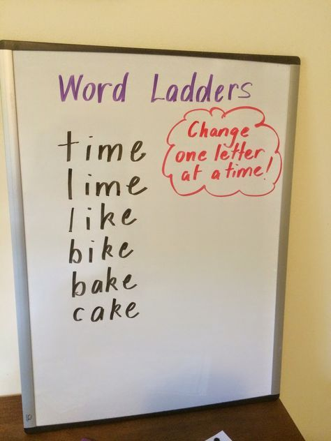 Word Ladders is a game for 2 players or 2 teams or it can be a challenge to give individuals.