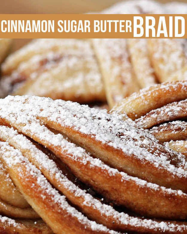This Cinnamon Sugar Butter Bread Braid Is Total Cooking Goals