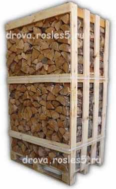 Купить сухие дрова в ящиках цена 3000 р - Рос Лес