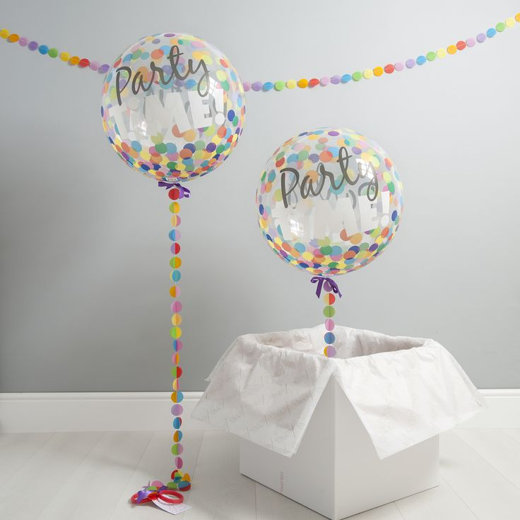 A stunning Party Time Bubble Balloon that