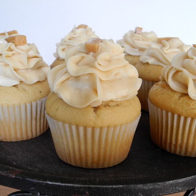 Salted Caramel Cupcakes-- just made these and the cake is AMAZING, so moist and soft, probably cause its made with cream cheese and sour cream-- you have to try it.