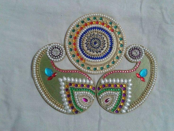 17 best images about rangoli designs on pinterest for Door rangoli design images new