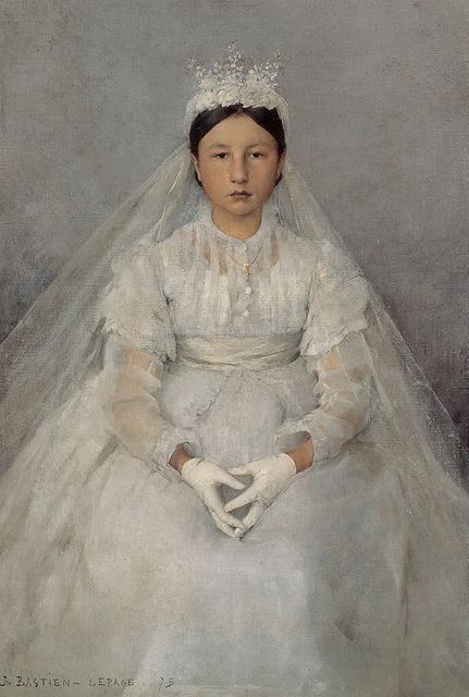 work of Jules Bastien Lepage (look at how he works with neutrals and shows transparency!)