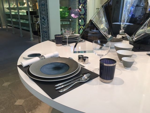 CLARESCO Glass on display at famous Thomas Goode & Co. store in Mayfair, London, Spring 2017
