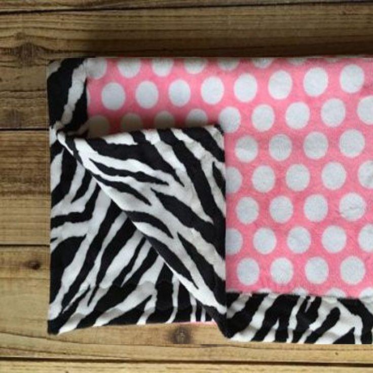 "Minky Baby Blanket Zebra Print (30: x 36"") – Artizenbox"