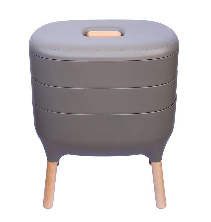 Urbalive Indoor Worm Farm - Organic Compost Vermicomposter, Chic European Design (Anthracite)