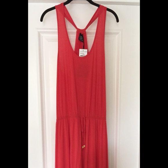 Bohemian Maxi Dress! Casual Bobeau Coral colored Maxi Dress. Great for summer and oh so comfortable! bobeau Dresses Maxi