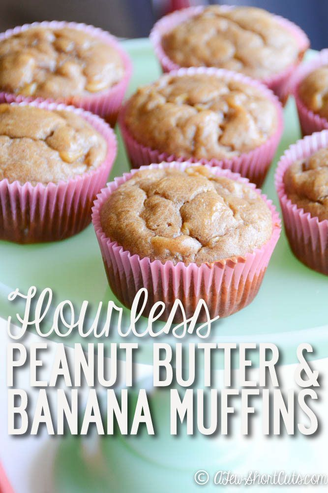 Are you looking for a grain free sugar free muffin that actually tastes worth eating?! This is it! The ingredients in this Flourless Peanut Butter