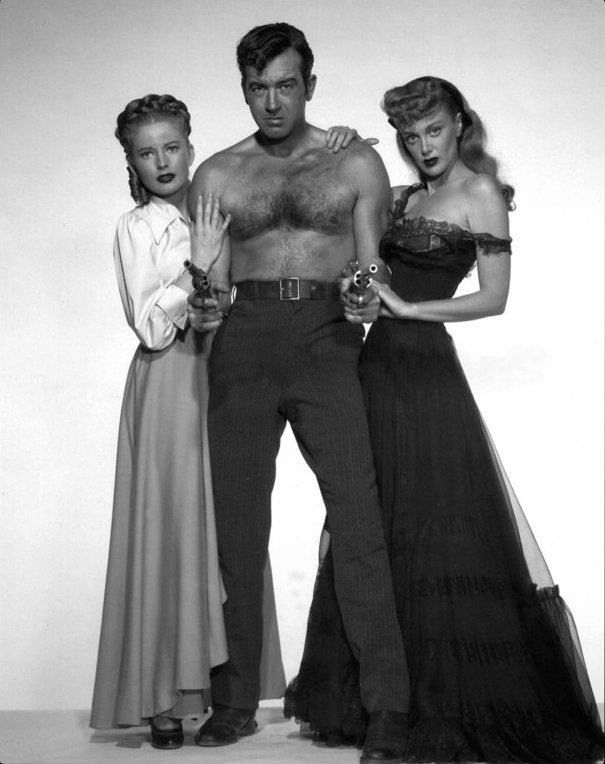 Coleen Gray, John Payne and Jan Sterling for The Vanquished, 1953, directed by Edward Ludwig.