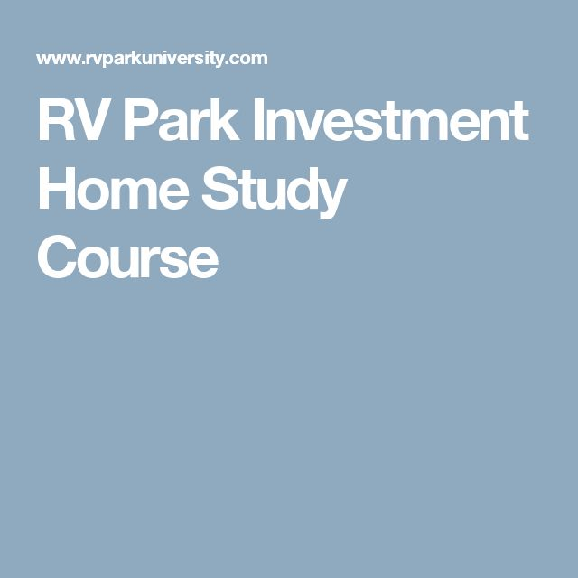 RV Park Investment Home Study Course