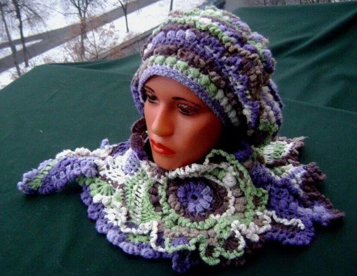 KNITTING PATTERNS Women Boho Knit Beanie Handmade Gift for Her Mom Sister Birthday Gift Instant Digital Download UniqueGradient Yarn VERMONT
