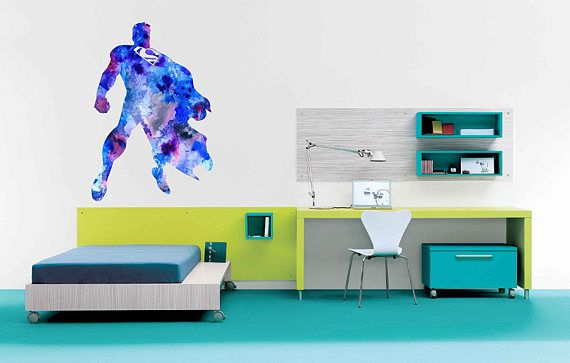kcik2185 Full Color Wall decal Watercolor children's room