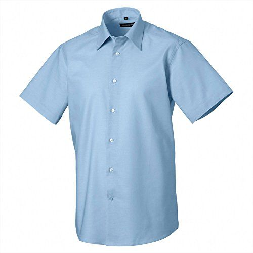 Russell Collection Short Sleeved Easycare Tailored Oxford…