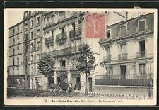 CPA Levallois-Perret, Rue Gravel, le Bureau de Poste