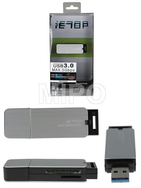 Card Reader Dual Slot v3.0  Alat pembaca memory card dengan 2 Slot versi 3.0  Specifications: - USB Specification v3.0 - Support SD / MMC / T-Flash / Micro SD Card - Direct data transfer from USB port - Plug and Play - Transmission Speed : 5 Gbps - Dimension : 6.5cm x 2.1cm x 1.1cm  Harga rp125.000 Info detail di : www.tokomipo.com