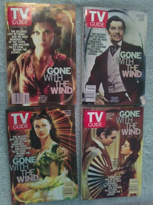 TV GUIDES ,Gone With The Wind Collector Set , DEC 2000 I have this!!