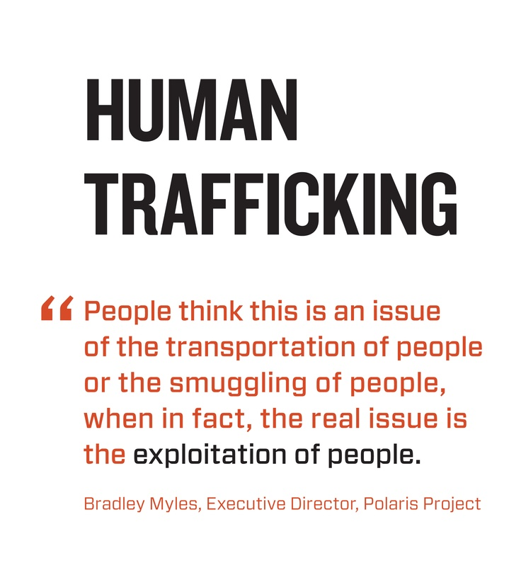 polaris and human trafficking Ten years of data and analysis from polaris' operation of the national human trafficking hotline found 3,376 cases of human trafficking involving hotels or motels as a business venue between january 2015 and september 2017, 2,680 victims and survivors were identified who had been trafficked at hotels.