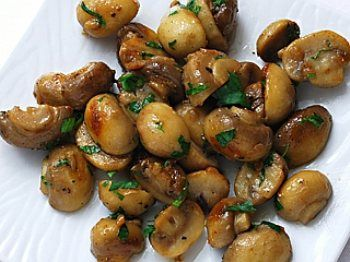 Mushrooms Sauteed with Garlic Butter - simple yet elegant dish.