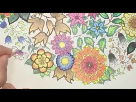 Secret Garden Coloring Book | SO many leaves | Jardim Secreto - YouTube
