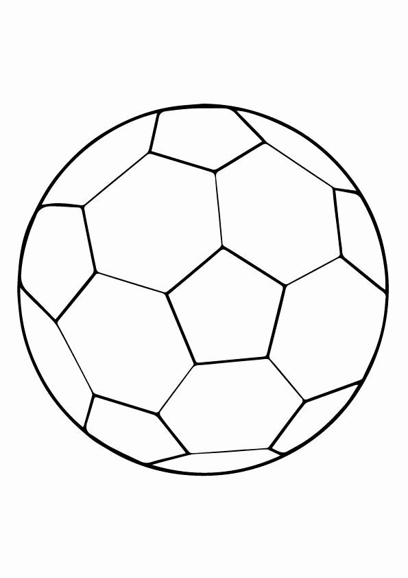 Soccer Ball Coloring Page New Print Coloring Image Sports Art