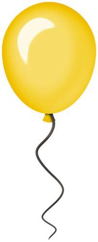 clipart yellow balloons - photo #44