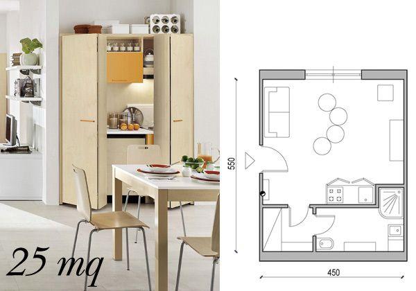 Arredare una casa piccola da 25 mq a 60 mq living for Arredare piccolo appartamento