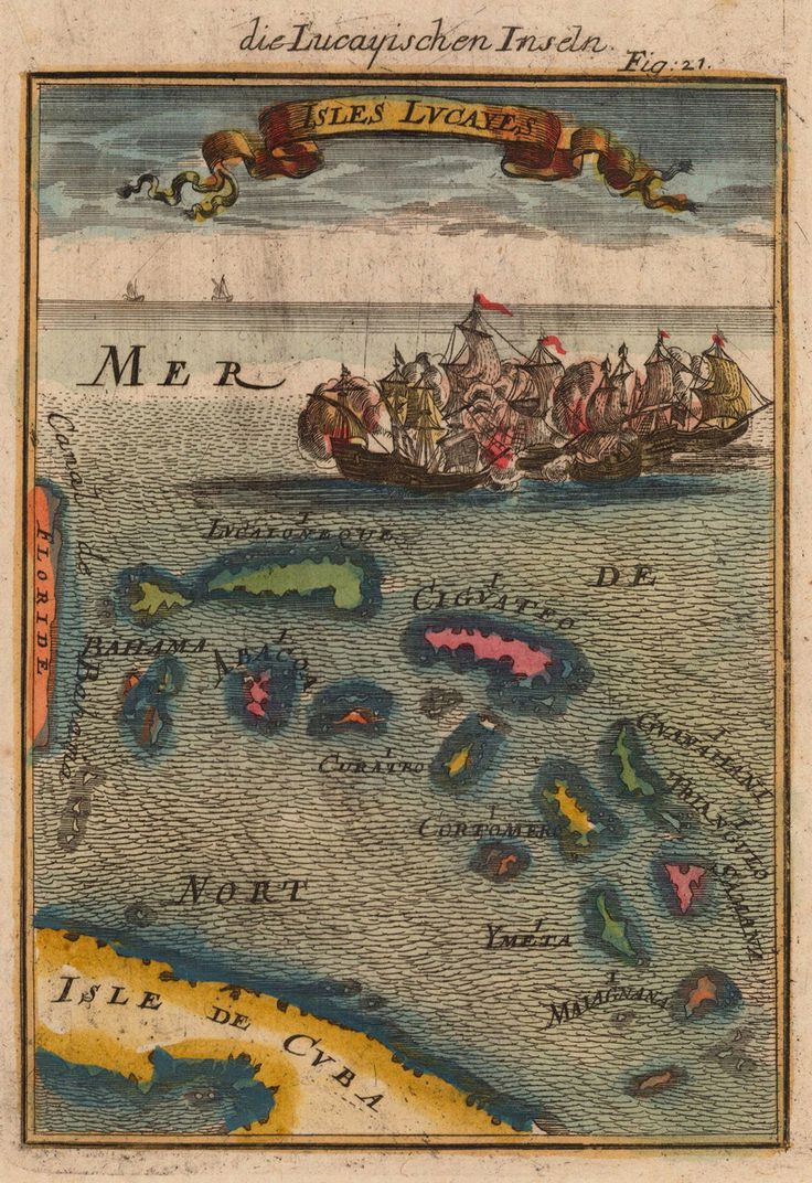 Allain Manesson Mallet, Description de l'Univers (1719 Frankfurt edition) . Caribbean Islands