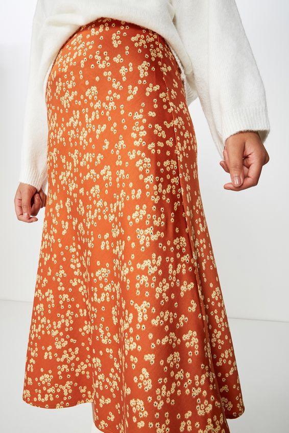 woven belle bias midi skirt Woven Belle Bias Midi Skirt | Midi skirt, Flowy design, Maxi dress
