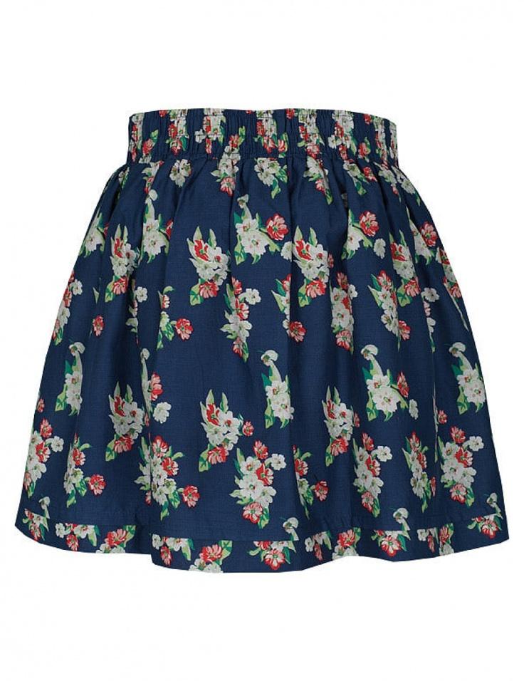 Fusta mini clos cu print floral - Navy TSD0336GR  Brand: T!nar