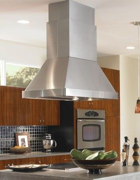 Vent-A-Hoodtion Emerald Lip Collection Island Mounted Range Hood SEPIH18-236 55 - contemporary - kitchen hoods and vents - Build.com