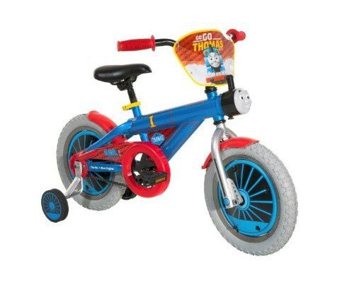 """Product review for Thomas The Train 8514-96TJ Boys Bike, 14-Inch, Blue/Red/Black - Item #8514-96TJ – 14"""" boys Thomas bike. Learning to ride is fun and exciting with this Thomas bike. Training wheel provide stability to balance while learning to ride. Deluxe paint in bright colors with Thomas details. Includes handlebar shield with Thomas graphics and Thomas Sound..."""