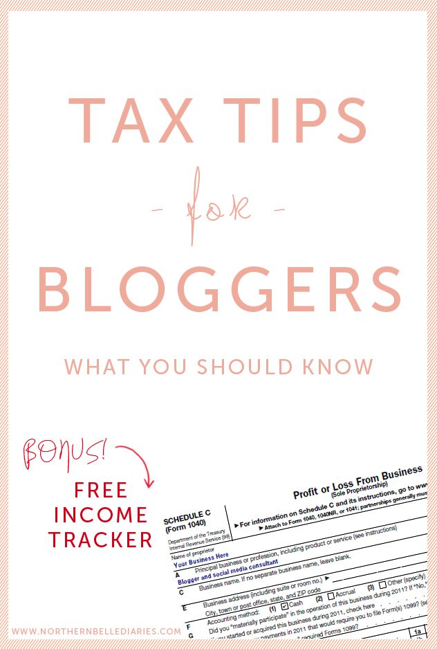 When I actually start making more income on my blog, this will be useful! Tax Tips for Bloggers plus a free blogging income tracker #tax #bloggers