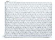 Delage 'Pochette Plate GM' basketweave effect coated canvas clutch   https://api.shopstyle.com/action/apiVisitRetailer?id=628642310&pid=uid2500-37484350-28