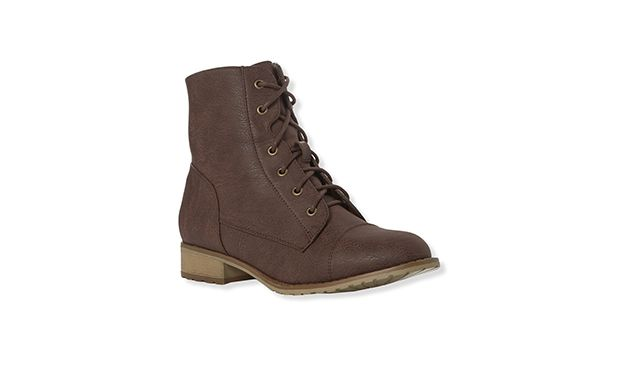"""Lace Up Work Boot. """"Mix these lace-up boots with skinny jeans and a slouchy knit to master a cool relaxed look."""""""