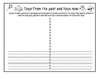 Toys from the Past and Present freebie