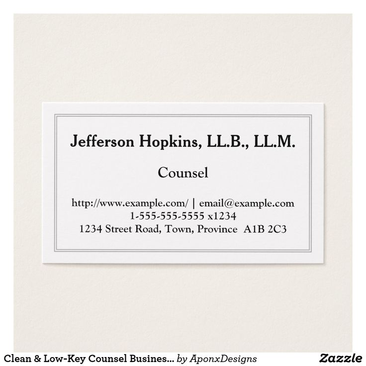 Clean & Low-Key Counsel Business Card