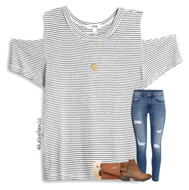 """""""Going to play tennis today 😊🎾"""" by haleyfrancis ❤ liked on Polyvore featuring LnA, H&M, Coach, Steve Madden and Liwu Jewellery"""