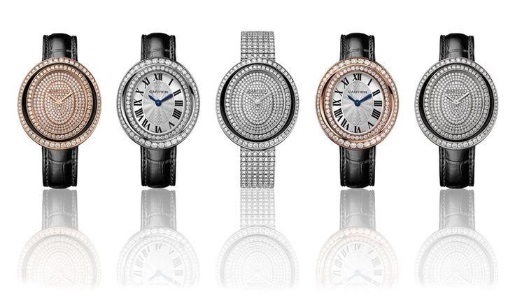 Картье часы Hypnose в белое и розовое золото с бриллиантами