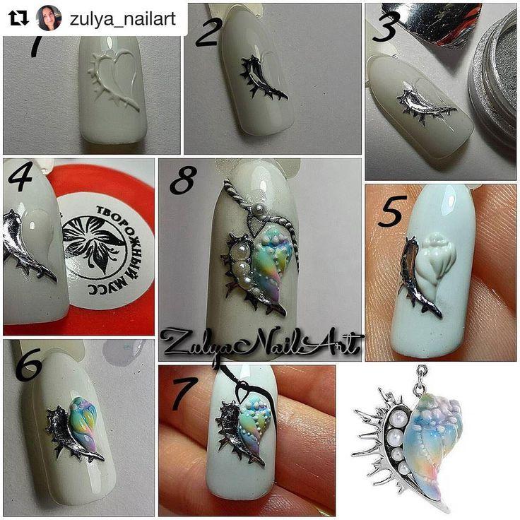 #Repost @zulya_nailart (@get_repost) ・・・ спасибо автору ювелирной подвески за идею  #ногти #ногтибутово #мкногти #мкnails #nails #nailart #море #хочунаморе #гельлак #наращиваниеногтей #южноебутово