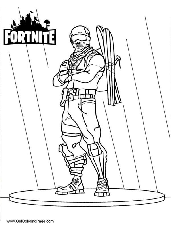 Fortnite Coloring Pages Easy Drawing Get Coloring Page Fortnite