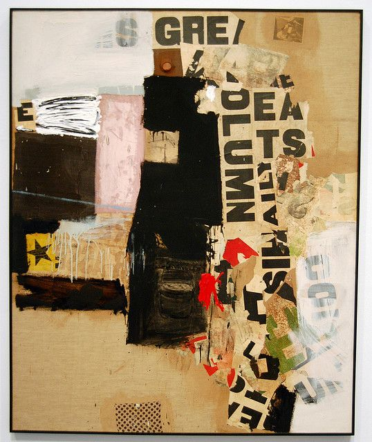 Robert Rauschenberg is more famously known for his work with collages, all his work is relevant to the era in which it was created this is mostly done through his incorporation of current events and news stories.