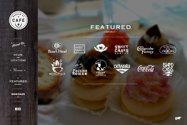 Morgan Street Cafe  Web Design: Hipster Webdesign, Café Webdesign, Design Ideas, Web Design Lov, Cafe Website, Website Design Cafe, Street Cafe, Behance Network, Website Webdesign
