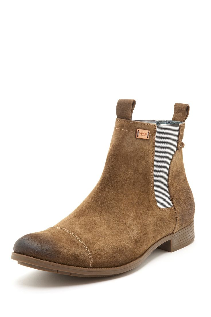 Calvin Klein, Fenton leather chelsea boot.