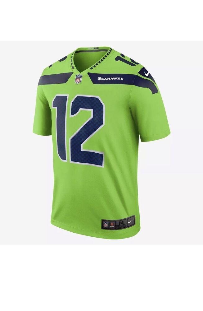 7332a174 Nike Seattle Seahawks #12 The Fan Color Rush Legend Jersey 821818 ...